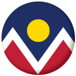 Denver (Colorado) Flag 58mm Fridge Magnet